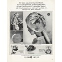 """1965 General Electric Ad """"faster hair drying"""""""