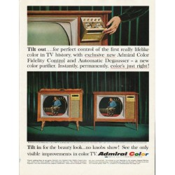 "1965 Admiral Television Ad ""Tilt out"""