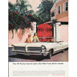 "1965 Pontiac Bonneville Ad ""does for quick"" ~ (model year 1965)"