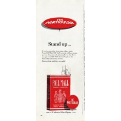 "1965 Pall Mall Cigarettes Ad ""Stand up"""