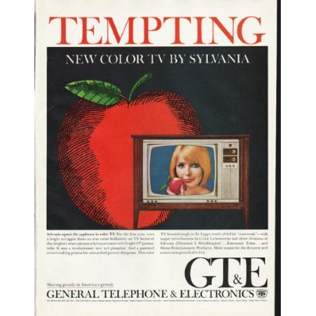 "1965 General Telephone & Electronics Ad ""Tempting"""