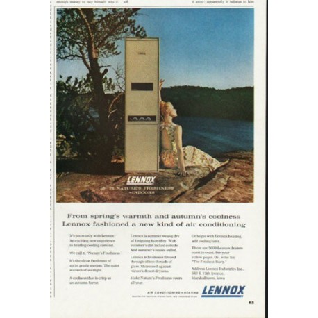 """1965 Lennox Ad """"From spring's warmth"""""""