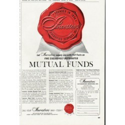 "1965 Investors Diversified Services Ad ""Mutual Funds"""