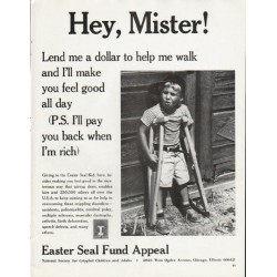 "1965 Easter Seal Fund Ad ""Hey, Mister"""
