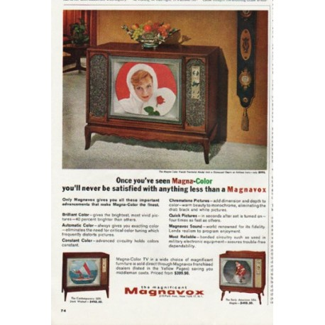 """1965 Magnavox Ad """"Magna-Color"""""""
