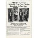 "1965 Great Art Ad ""Clown Paintings"""
