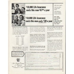 "1965 Life Assurance Company Ad ""$10,000 Life Insurance"""