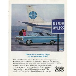 "1965 Ford Falcon Ad ""Falcon flies"" ~ (model year 1965)"