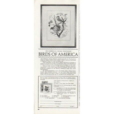 """1965 Birds of America Ad """"Arthur Singer"""""""