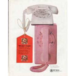 """1965 Bell System Ad """"Talk about a bargain"""""""