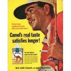 "1965 Camel Cigarettes Ad ""reaching for taste"""