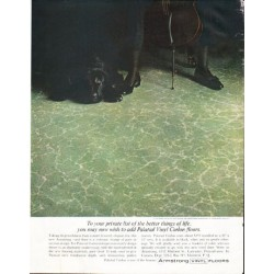 """1961 Armstrong Floors Ad """"your private list"""""""