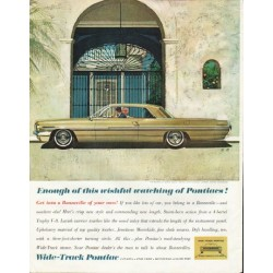 "1962 Pontiac Ad ""wishful watching"" ~ (model year 1962)"