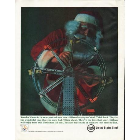 "1961 United States Steel Ad ""children love toys"""