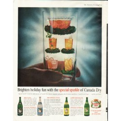 "1961 Canada Dry Ad ""holiday fun"""