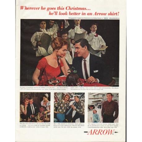 """1961 Arrow Shirt Ad """"this Christmas"""""""