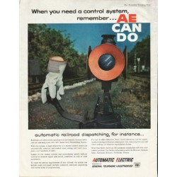 "1961 Automatic Electric Ad ""a control system"""