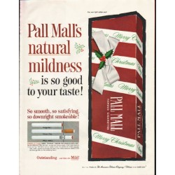 "1961 Pall Mall Cigarettes Ad ""natural mildness"""