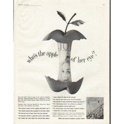 "1961 Ladies' Home Journal Ad ""apple of her eye"""