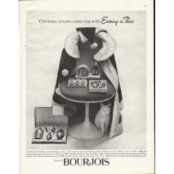 "1961 Bourjois Ad ""Christmas dreams"""