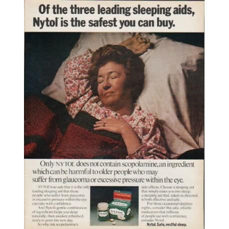 """1972 Nytol Ad """"three leading sleep aids"""""""