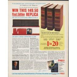 "1972 Encyclopaedia Britannica Ad ""First Edition Replica"""