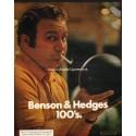 """1972 Benson & Hedges Cigarettes Ad """"America's Favorite"""""""