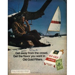"1972 Old Gold Cigarettes Ad ""Get away"""