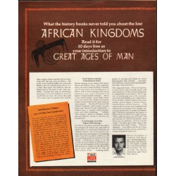 "1972 Time-LIFE Books Ad ""African Kingdoms"""