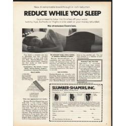 "1972 Slumber-Shapers Ad ""Reduce While You Sleep"""