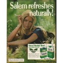 "1972 Salem Cigarettes Ad ""Salem refreshes naturally"""
