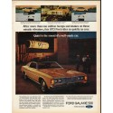 "1973 Ford Galaxie Ad ""Quiet is the sound"" ~ (model year 1973)"