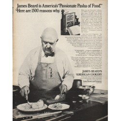 "1972 James Beard's American Cookery Ad ""Pasha of Food"""