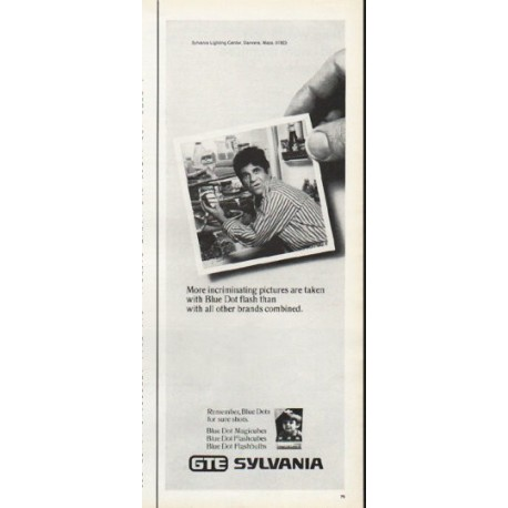 """1972 Sylvania Flashbulbs Ad """"incriminating pictures"""""""