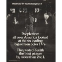 """1972 Zenith Television Ad """"Which Color TV"""""""