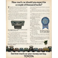 "1973 Toyota Ad ""couple of thousand bucks"" ~ (model year 1973)"
