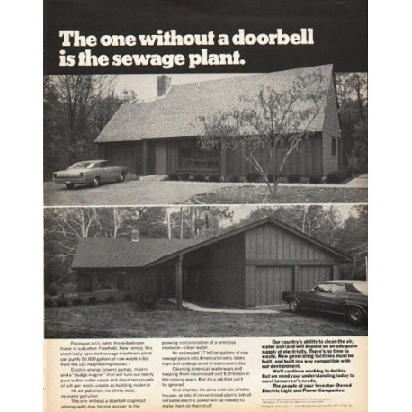 """1972 Electric Light and Power Companies Ad """"without a doorbell"""""""