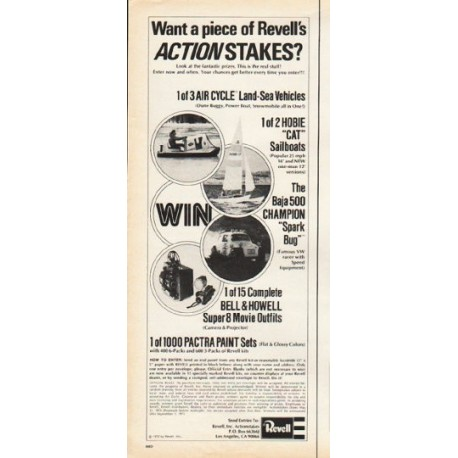 """1972 Revell Ad """"Actionstakes"""""""