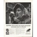 "1958 Bufferin Ad ""painful cold miseries"""
