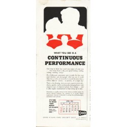 "1958 Shuron Optical Ad ""Continuous Performance"""