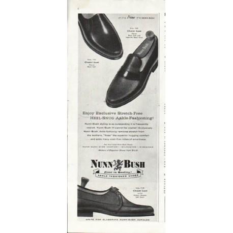 "1958 Nunn-Bush Ad ""Heel-Snug"""
