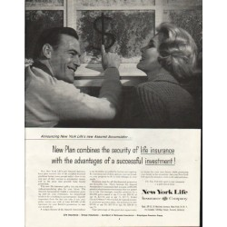 "1958 New York Life Insurance Company Ad ""New Plan"""