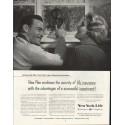 "1958 New York Life Insurance Company Ad ""New Plan"""