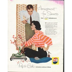"1958 Pepsi-Cola Ad ""Arrangement for Slimness"""