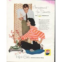 "1958 Pepsi-Cola Ad ""Arrangement for Slimness"""