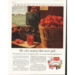 "1958 Campbell's Soup Ad ""color memory"""