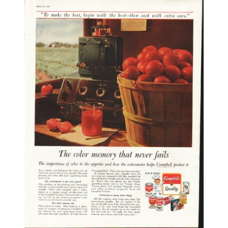 """1958 Campbell's Soup Ad """"color memory"""""""