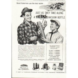"1958 Thermos Ad ""Good fishermen"""