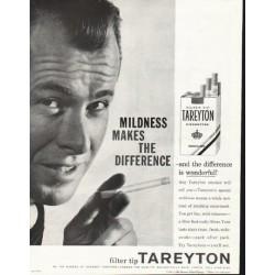 "1958 Tareyton Cigarettes Ad ""Mildness"""