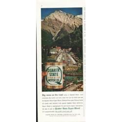 "1958 Quaker State Motor Oil Ad ""Banff, Canada"""